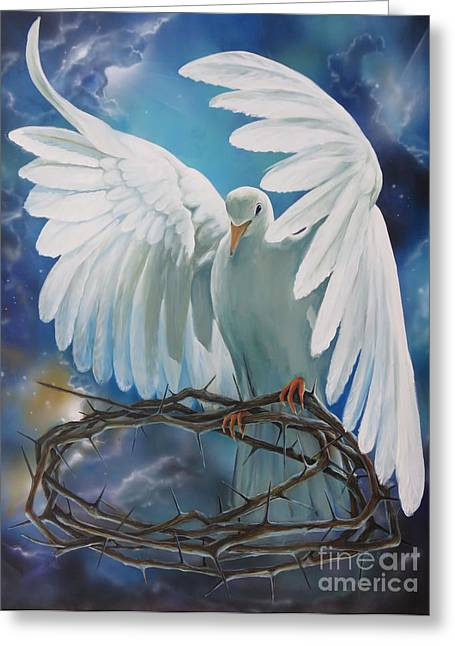 The Dove Greeting Card by Larry Cole