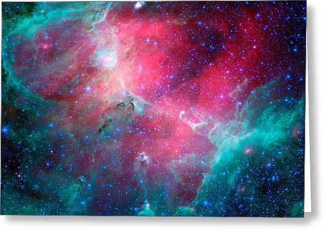 The Eagle Nebula In The Serpens Constellation Greeting Card