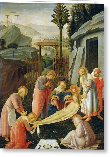 The Entombment Of Christ Greeting Card by Fra Angelico