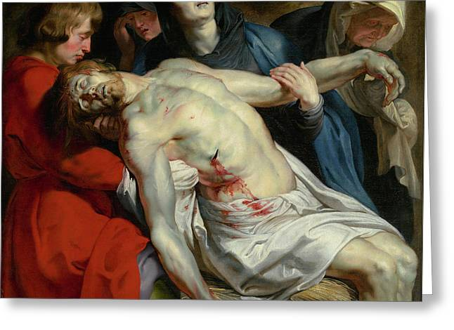 The Entombment Greeting Card by Peter Paul Rubens