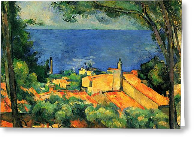 The Estaque With Red Roofs Greeting Card