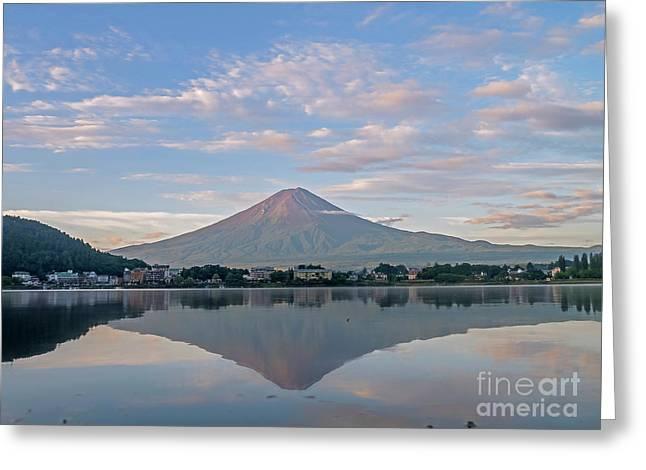 The Famous Mount Fuji At Lake Kawaguchi Greeting Card