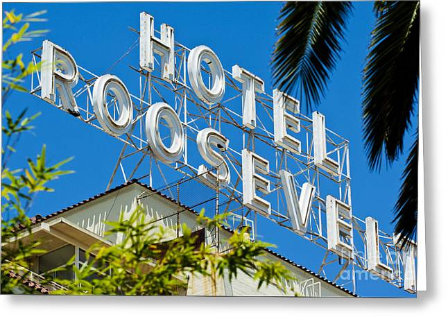 The Famous Roosevelt Hotel Greeting Card by Micah May