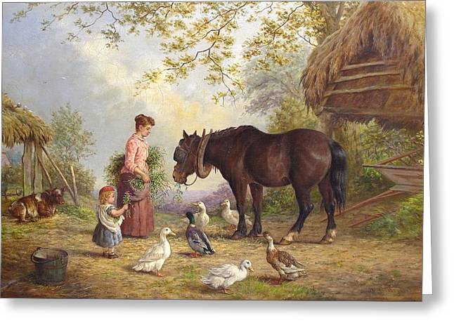 The Farm Greeting Card by Henry Charles