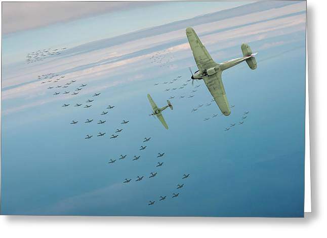Greeting Card featuring the photograph The Few by Gary Eason