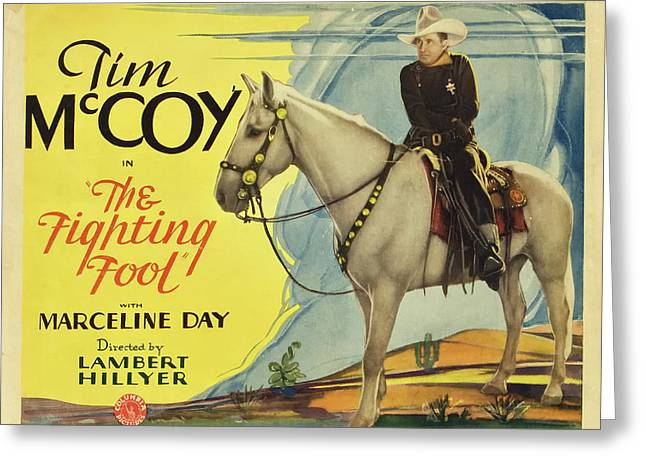 The Fighting Fool 1932 Greeting Card by Columbia