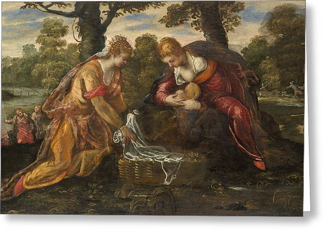 The Finding Of Moses Greeting Card by Tintoretto