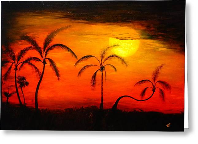 The Florida Sun Greeting Card by Monty Perales