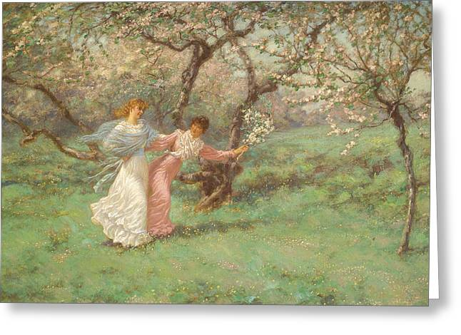 The Flowers Of May Greeting Card by William John Hennessy
