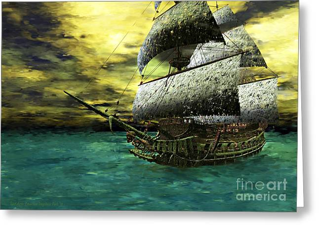 The Flying Dutchman Greeting Card by Sandra Bauser Digital Art