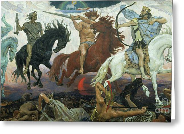 The Four Horsemen Of The Apocalypse Greeting Card
