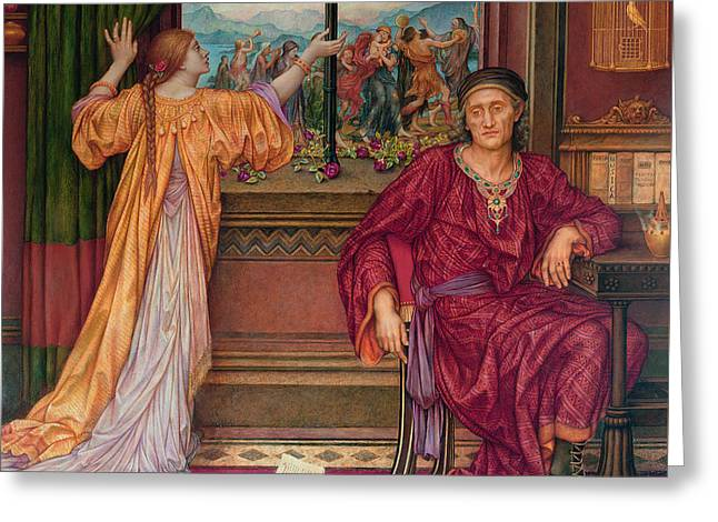 The Gilded Cage Greeting Card by Evelyn De Morgan