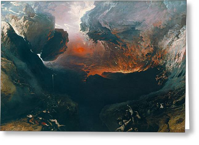 The Great Day Of His Wrath Greeting Card by John Martin