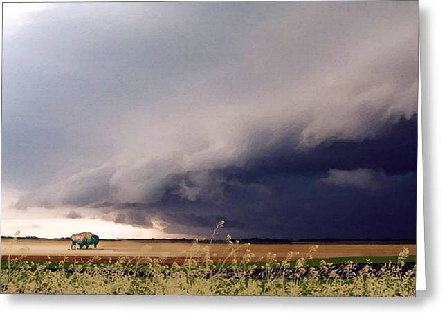 The Great Plains Greeting Card by Paul Sachtleben
