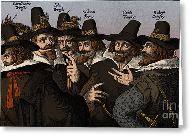 The Gunpowder Rebellion, 1605 Greeting Card by Science Source