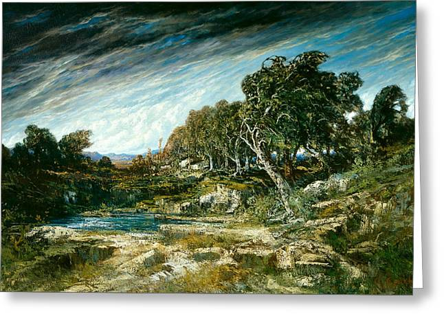 The Gust Of Wind Greeting Card by Gustave Courbet
