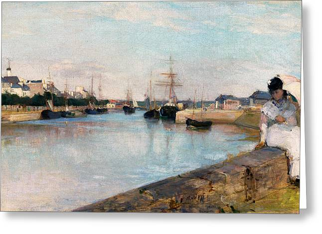 The Harbor At Lorient Greeting Card