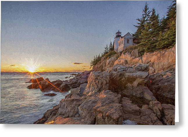 The Harbor Dusk IIi Greeting Card by Jon Glaser