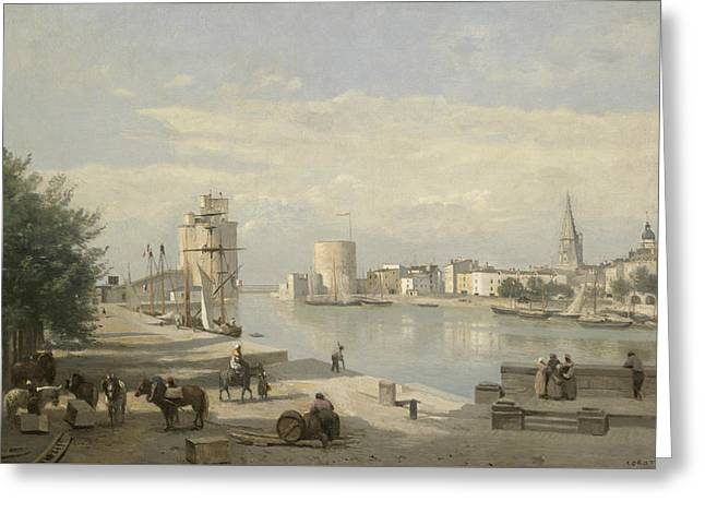 The Harbor Of La Rochelle Greeting Card