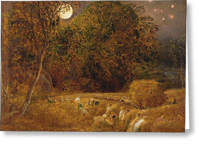 The Harvest Moon Greeting Card by Celestial Images
