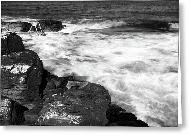 Greeting Card featuring the photograph The Herring Pond, Portstewart by Colin Clarke