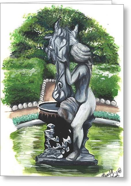 The Hidden Fountain Greeting Card by Scarlett Royal