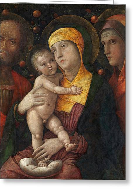 The Holy Family With Saint Mary Magdalen Greeting Card