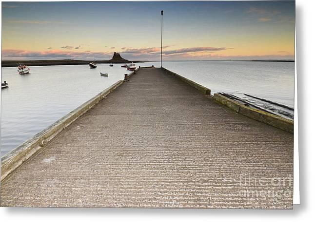 The Holy Island Of Lindisfarne Greeting Card