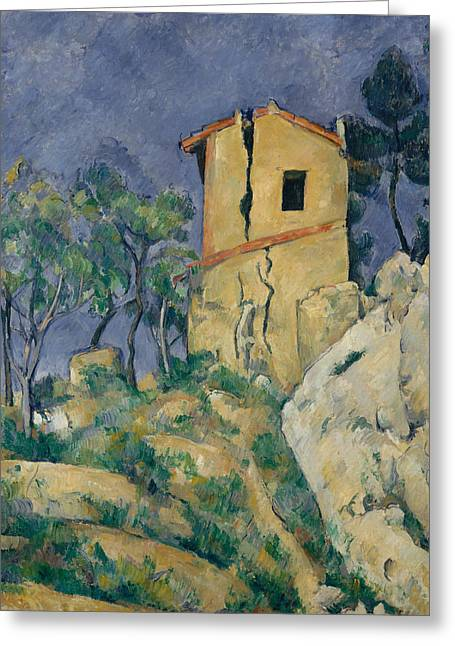 The House With The Cracked Walls Greeting Card by Paul Cezanne