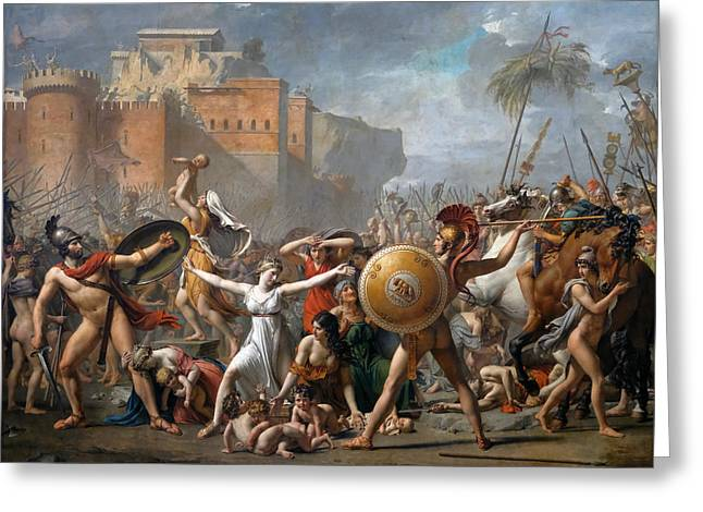 The Intervention Of The Sabine Women Greeting Card