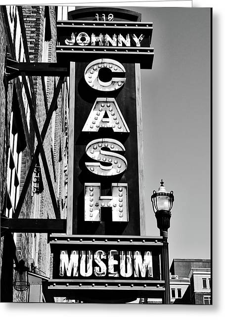 The Johnny Cash Museum - Nashville Greeting Card by Paul Brennan