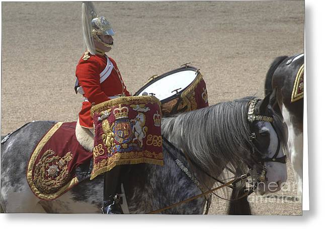The Kettledrums Of Household Cavalry Greeting Card by Andrew Chittock