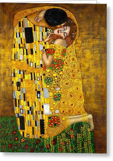 The Kiss Greeting Card by Klimt