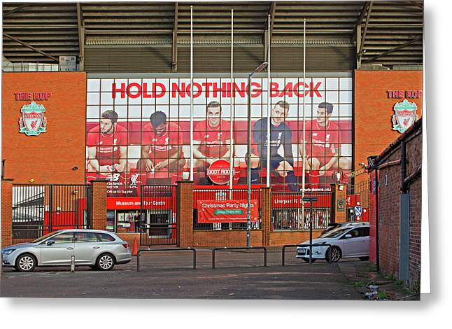 The Kop Entrance To Liverpool Foo Greeting Card