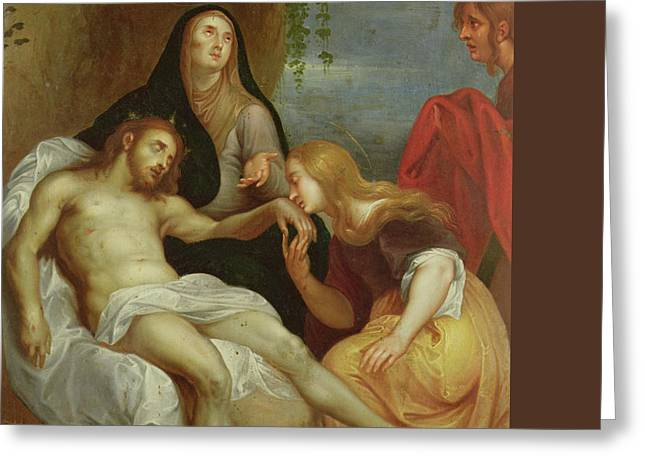 The Lamentation Greeting Card by Anthony van Dyck