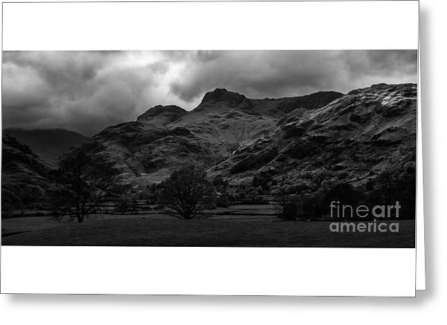 The Langdale Pikes Greeting Card