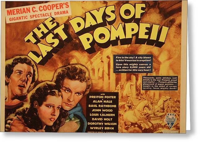 The Last Days Of Pompeii 1935 Greeting Card by Mountain Dreams