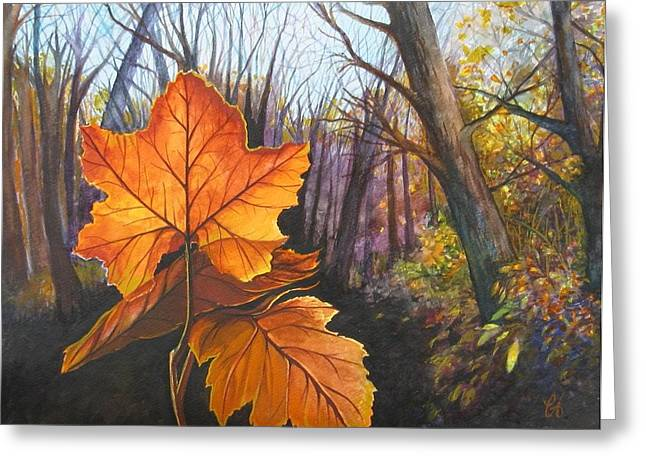 The Last Of Autumn Greeting Card by Carrie Auwaerter