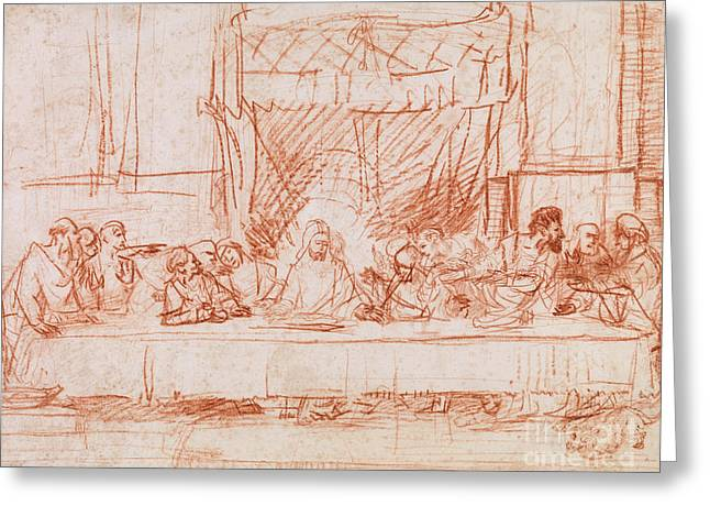 The Last Supper, After Leonardo Da Vinci Greeting Card