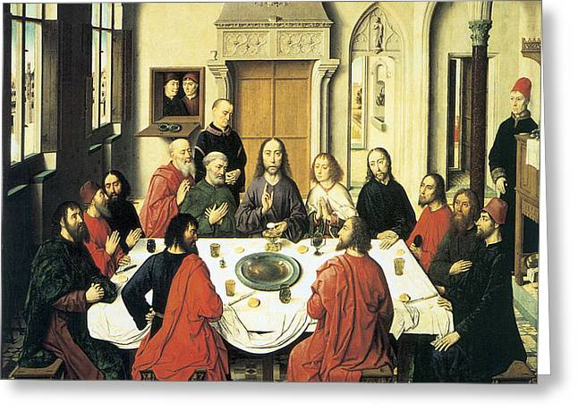 The Last Supper Greeting Card by Dieric Bouts