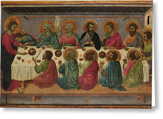 The Last Supper Greeting Card by Ugolino da Siena