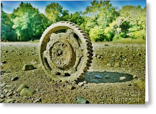 The Last Tractor Greeting Card by Scott D Van Osdol