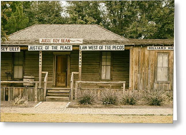 The Law West Of The Pecos Greeting Card