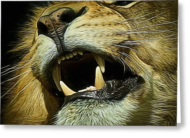 The Lion Digital Art Greeting Card