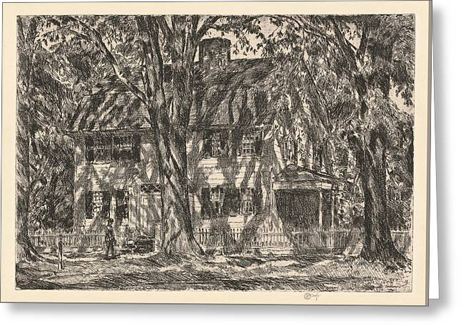 The Lion Gardiner House. Easthampton Greeting Card