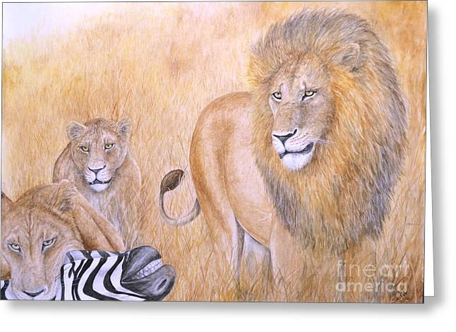 The Lion's Share Greeting Card