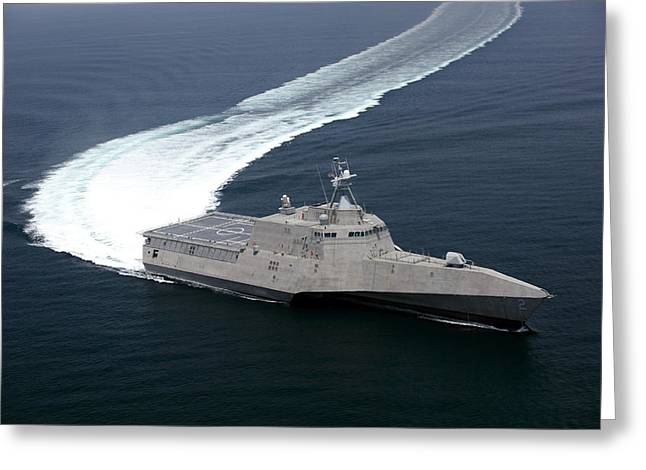 The Littoral Combat Ship Independence Greeting Card