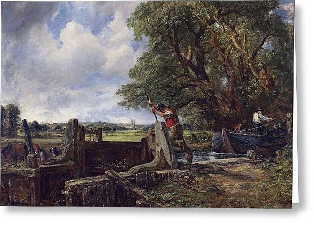 The Lock Greeting Card by John Constable