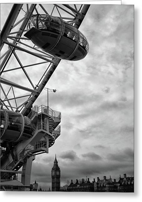 The London Eye Greeting Card by Martin Newman