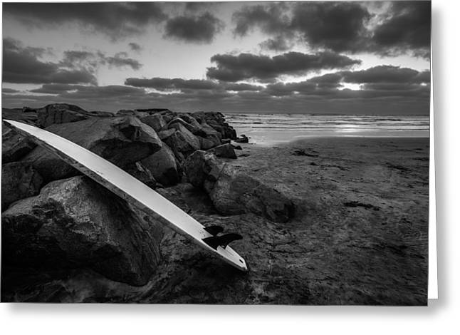 The Long Board Greeting Card by Peter Tellone
